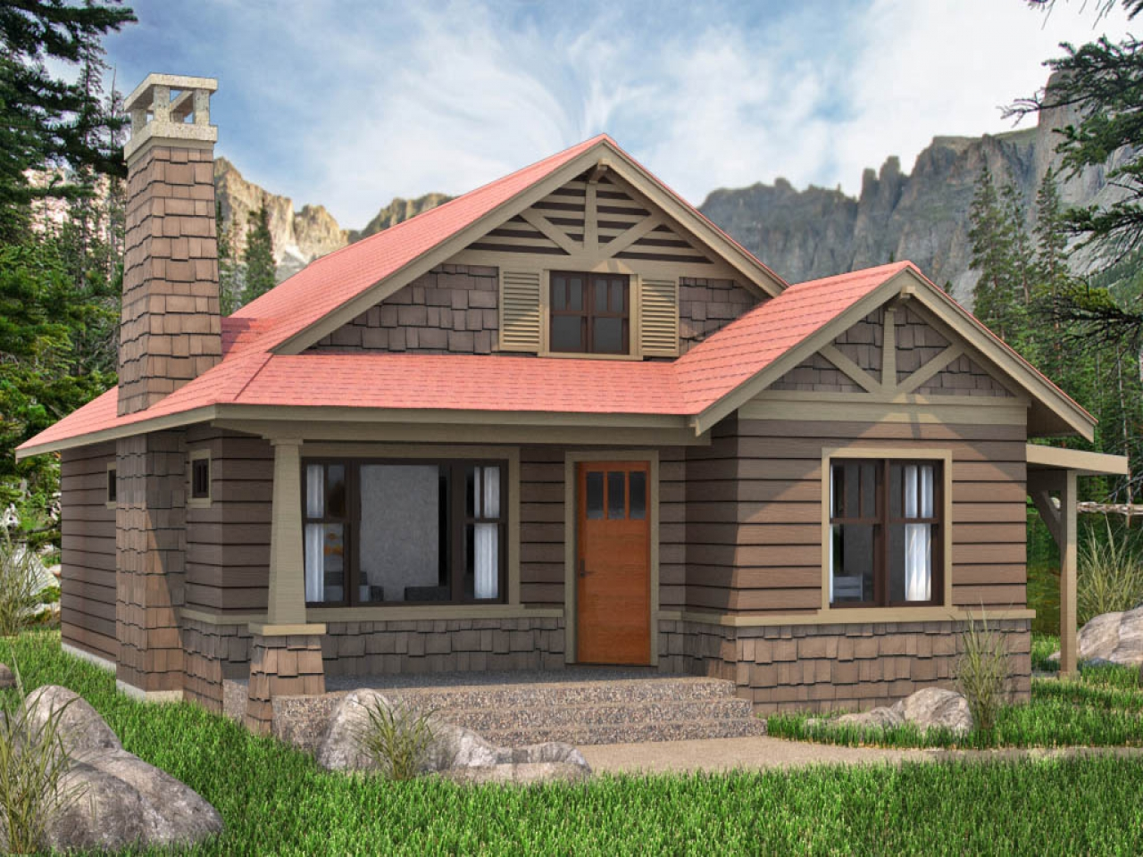 2 bedroom cottage house plans 2 bedroom cottage house for Luxury cottage homes