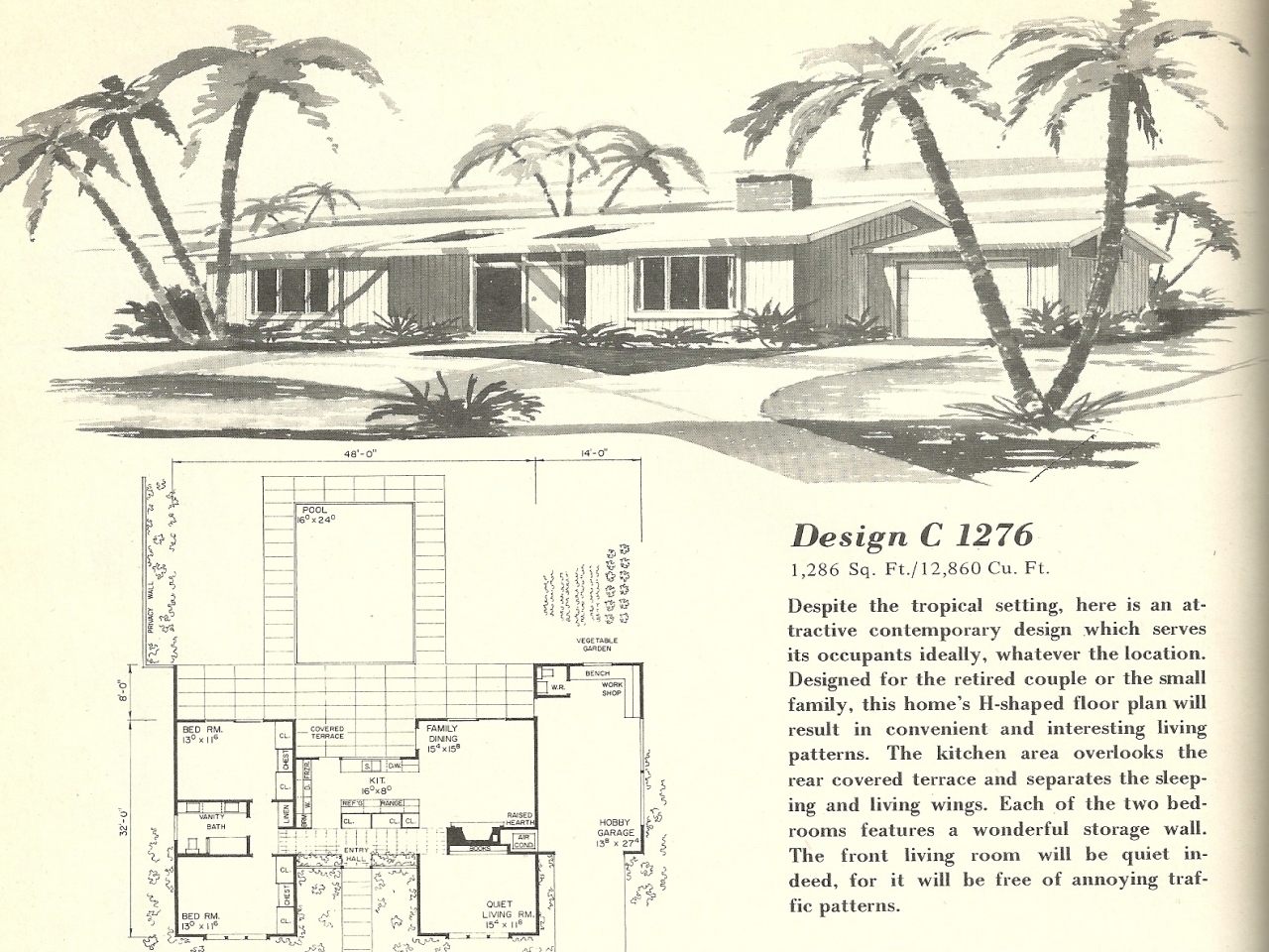 Vintage 1960s house plans vintage home plans for 1960 ranch house plans