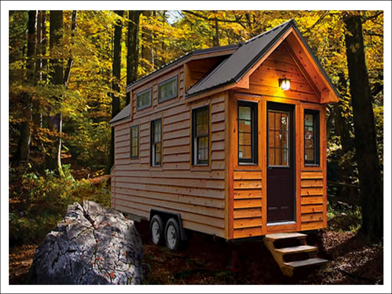 Inside tiny houses tiny house on trailer new home plans for Small house cost to build
