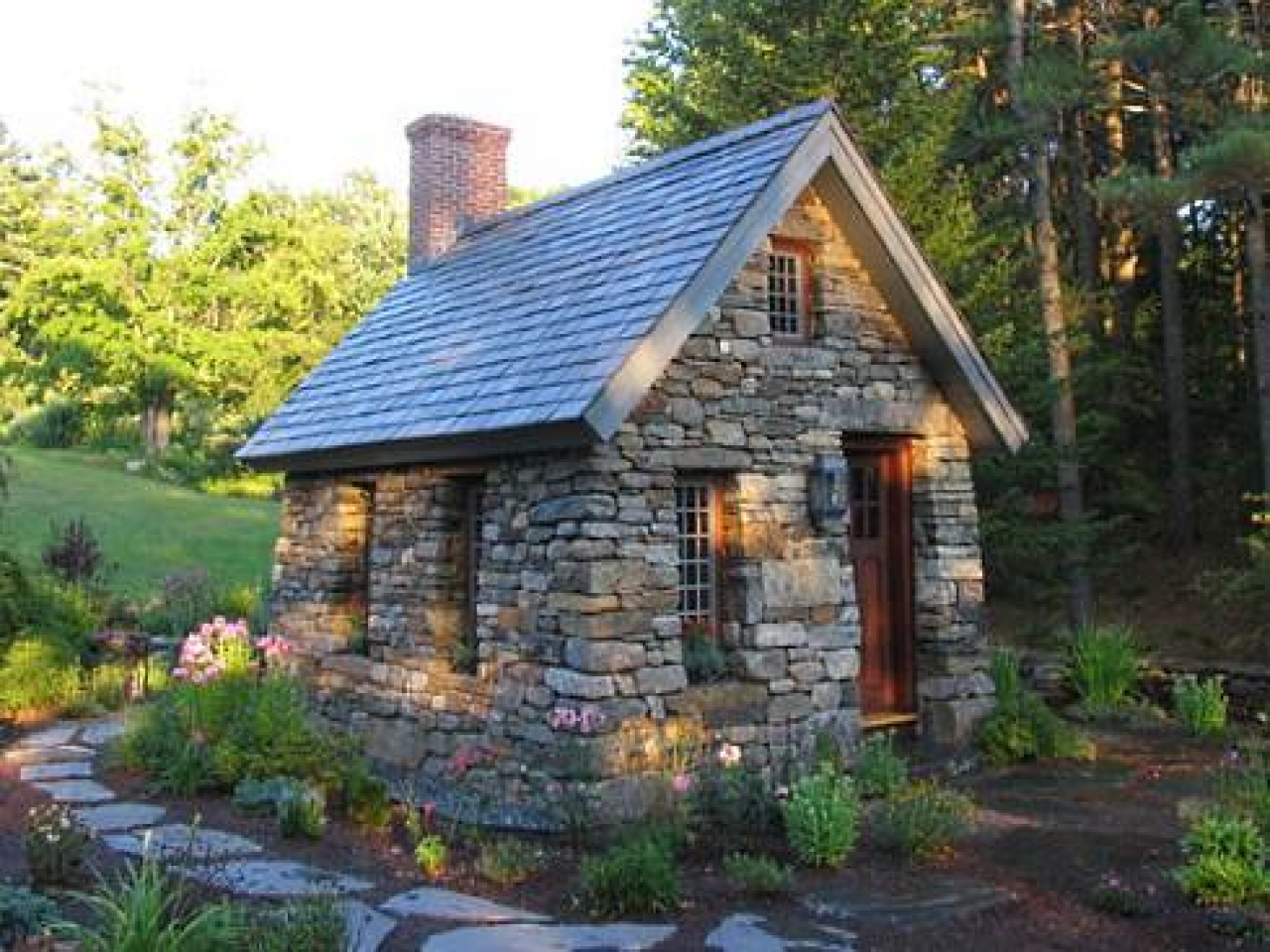Stone Home Designs: Fairy Tale Cottage House Plans Small Stone Cottage Design