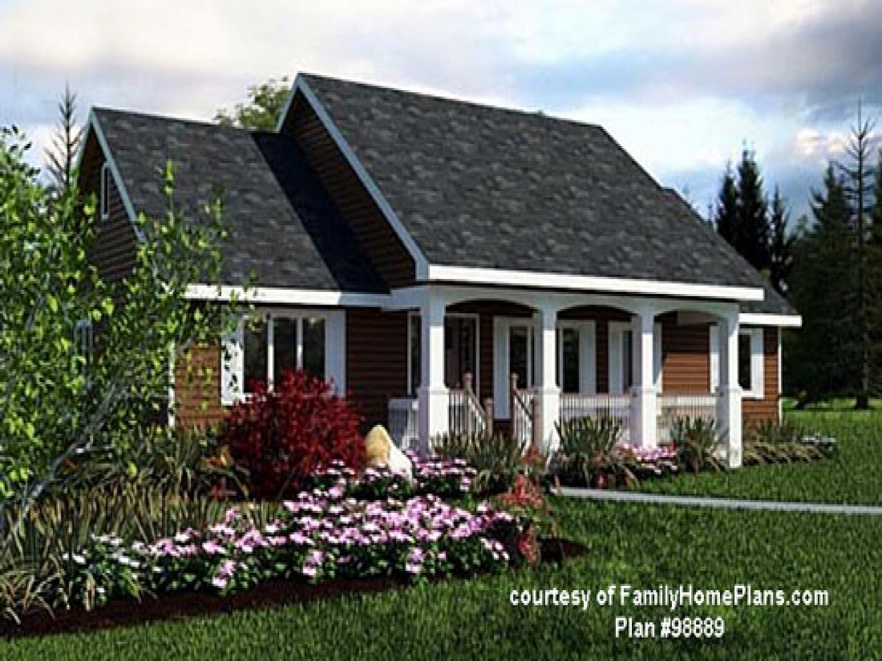 Popular ranch style house plans ranch house plans with for Back porch ranch