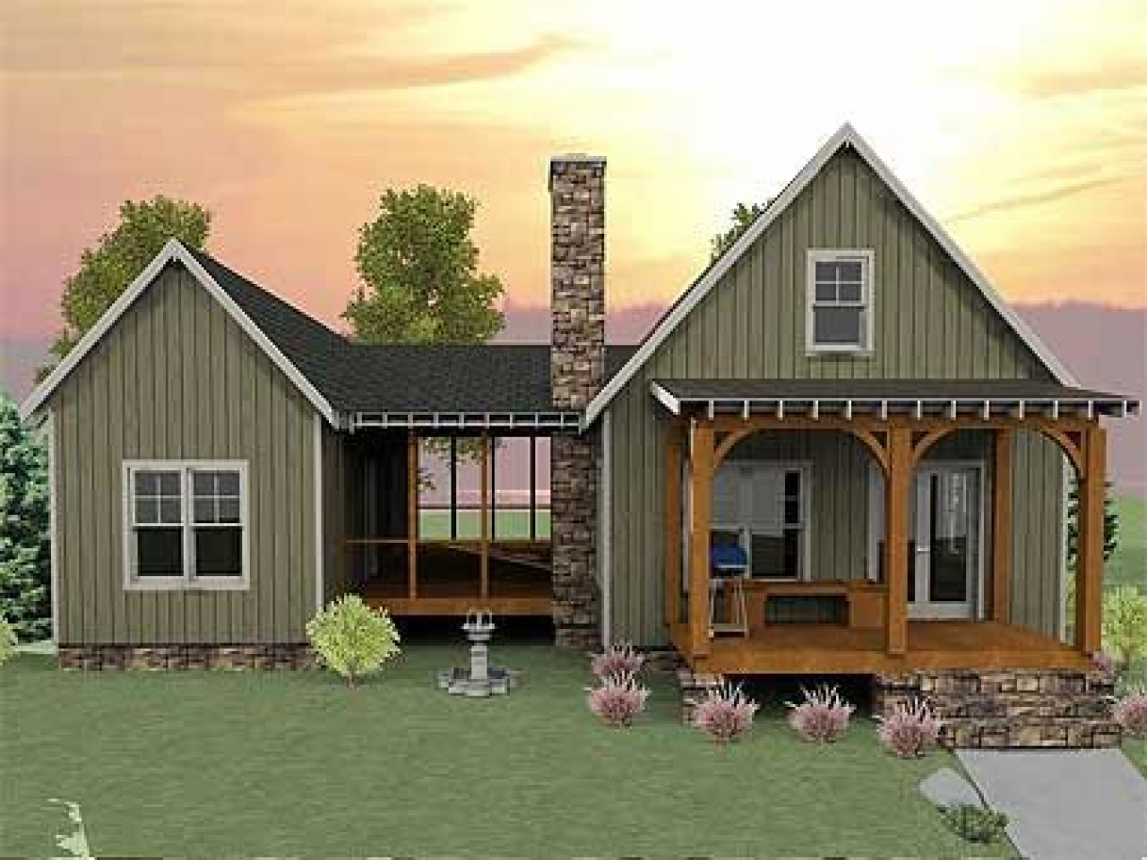 Tiny Home Design Plans: Small House Plans With Screened Porch Small House Plans