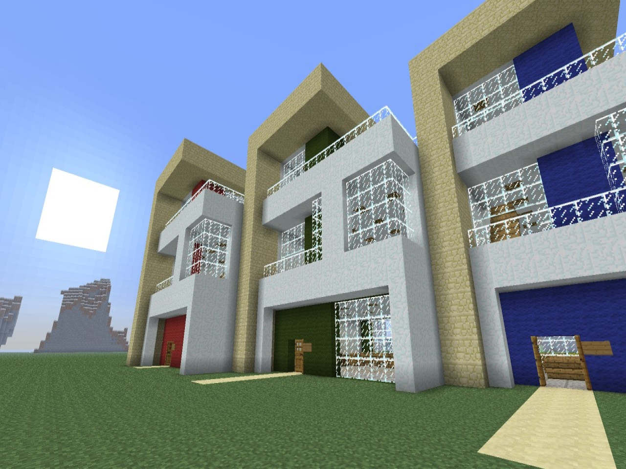 Modern minecraft house schematics modern minecraft house for Modern house 49
