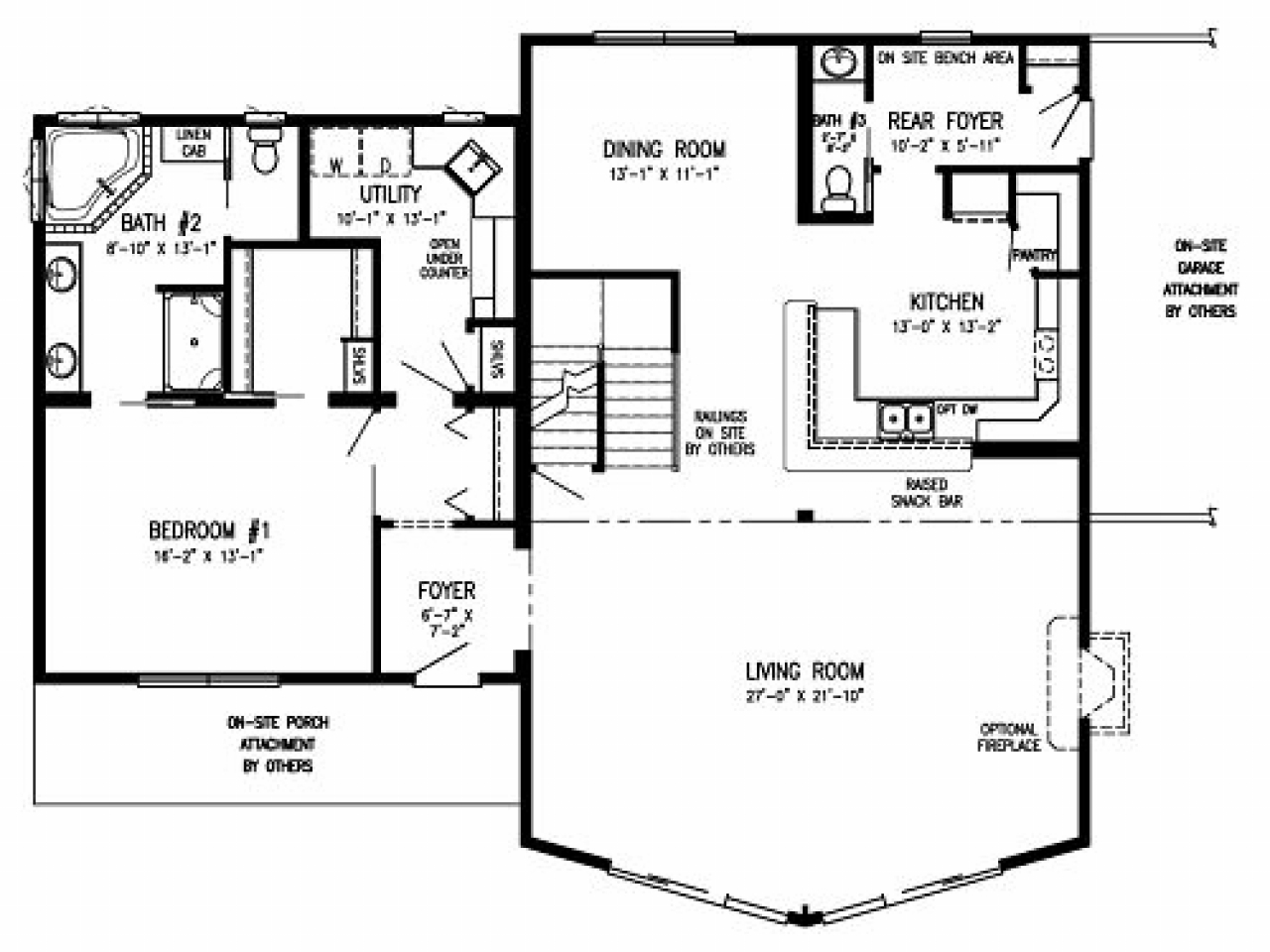Stratford homes timber lodge floor plan timber lodge for Timber floor plans