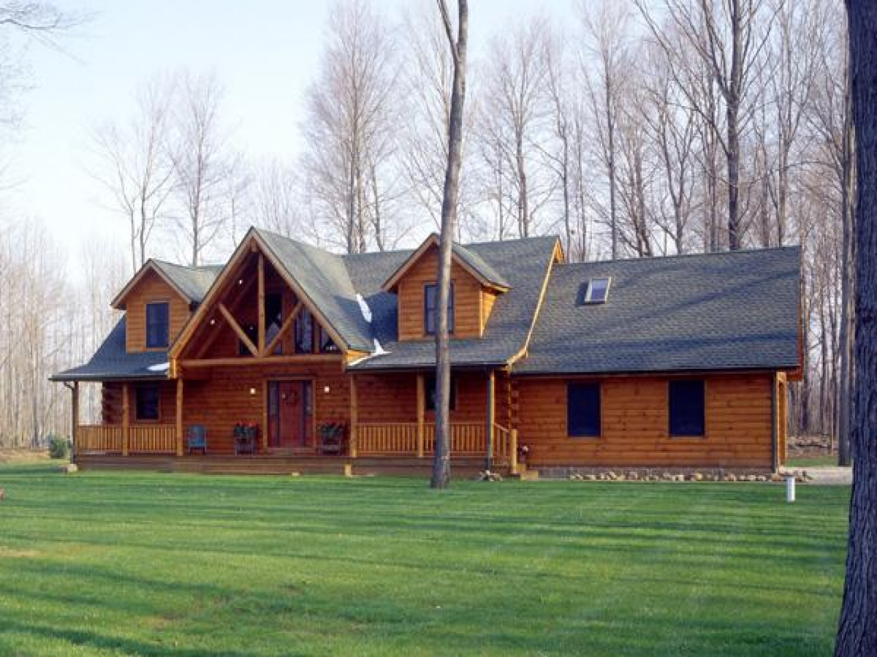 Log cabin homes inside log cabin homes for sale in ohio for Log cabin builders in california