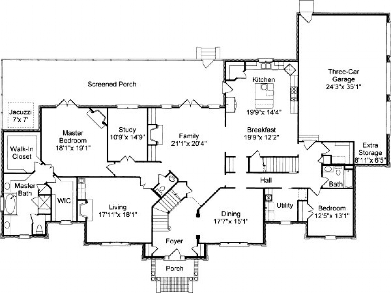 Colonial house floor plans traditional colonial house for Colonial open floor plans