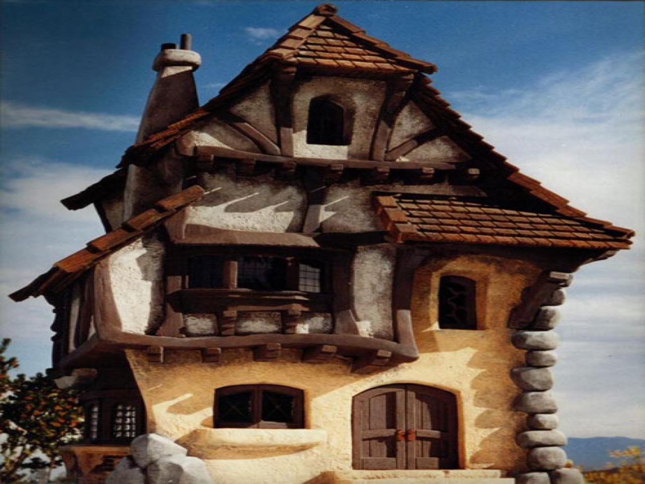Traditional Bavarian Architecture Cottage Model