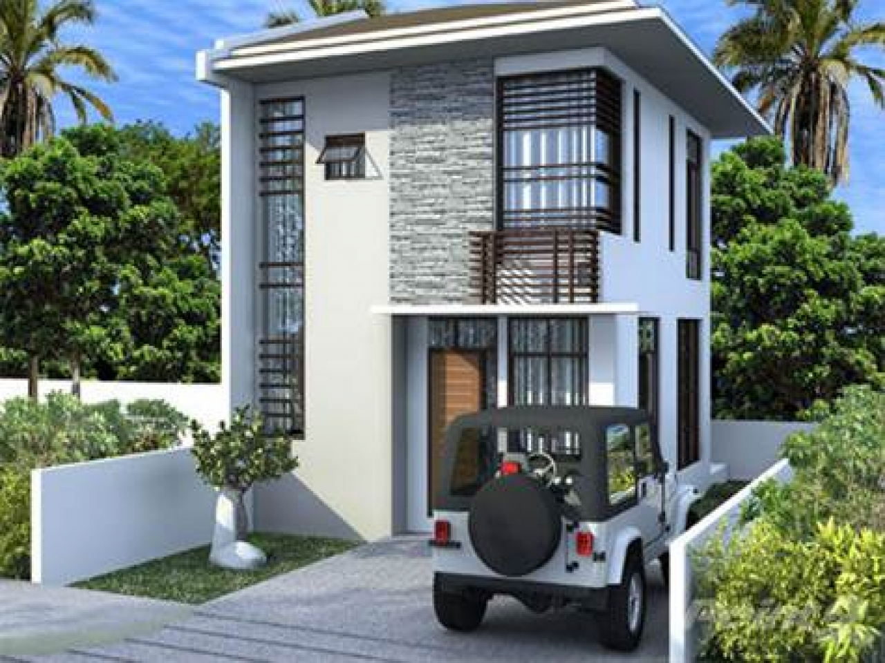 2 storey pinoy house small 2 storey house design for Small two storey house