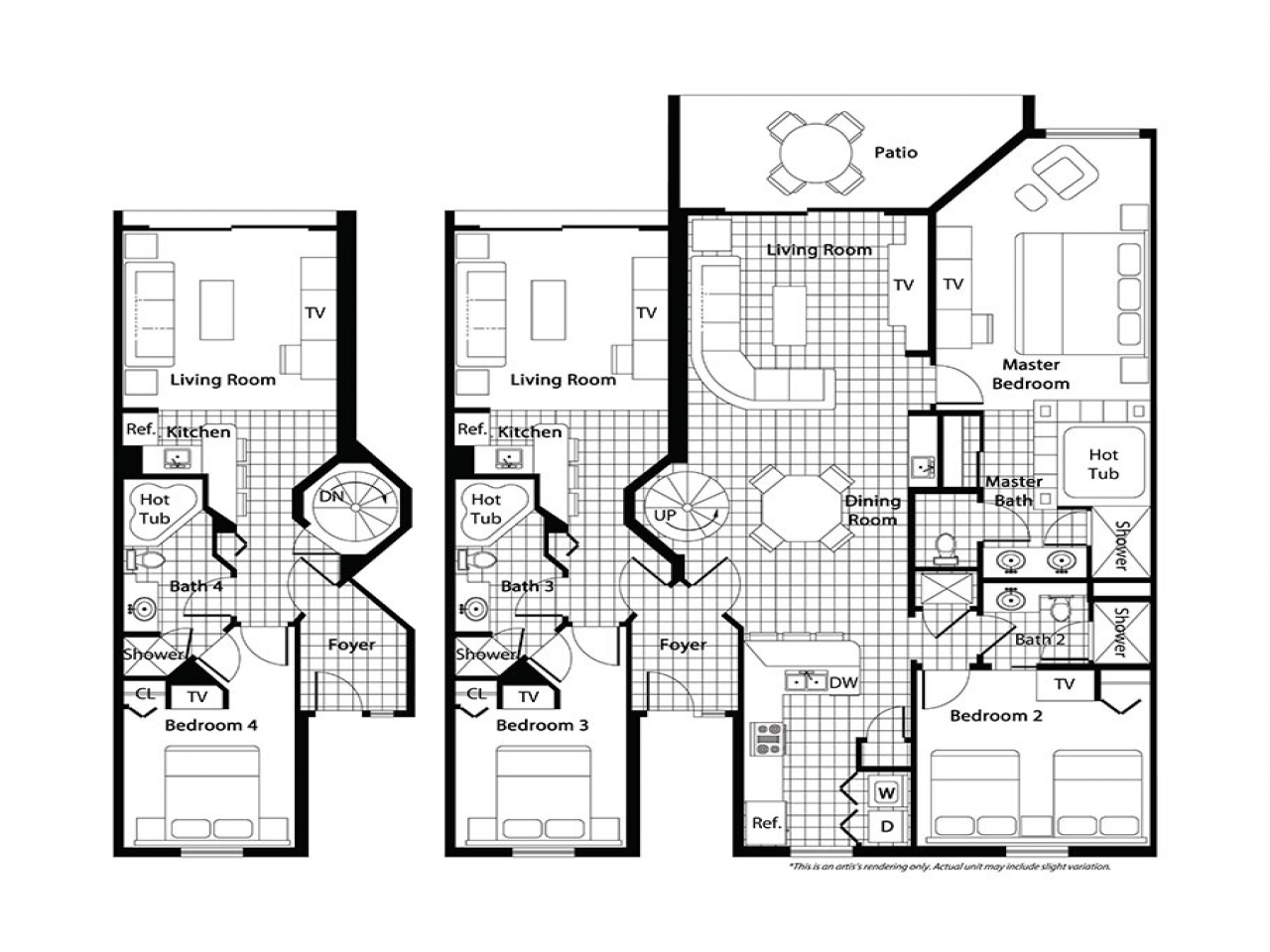 2 bedroom villa floor plans 28 images villa second for Bedroom floor letra