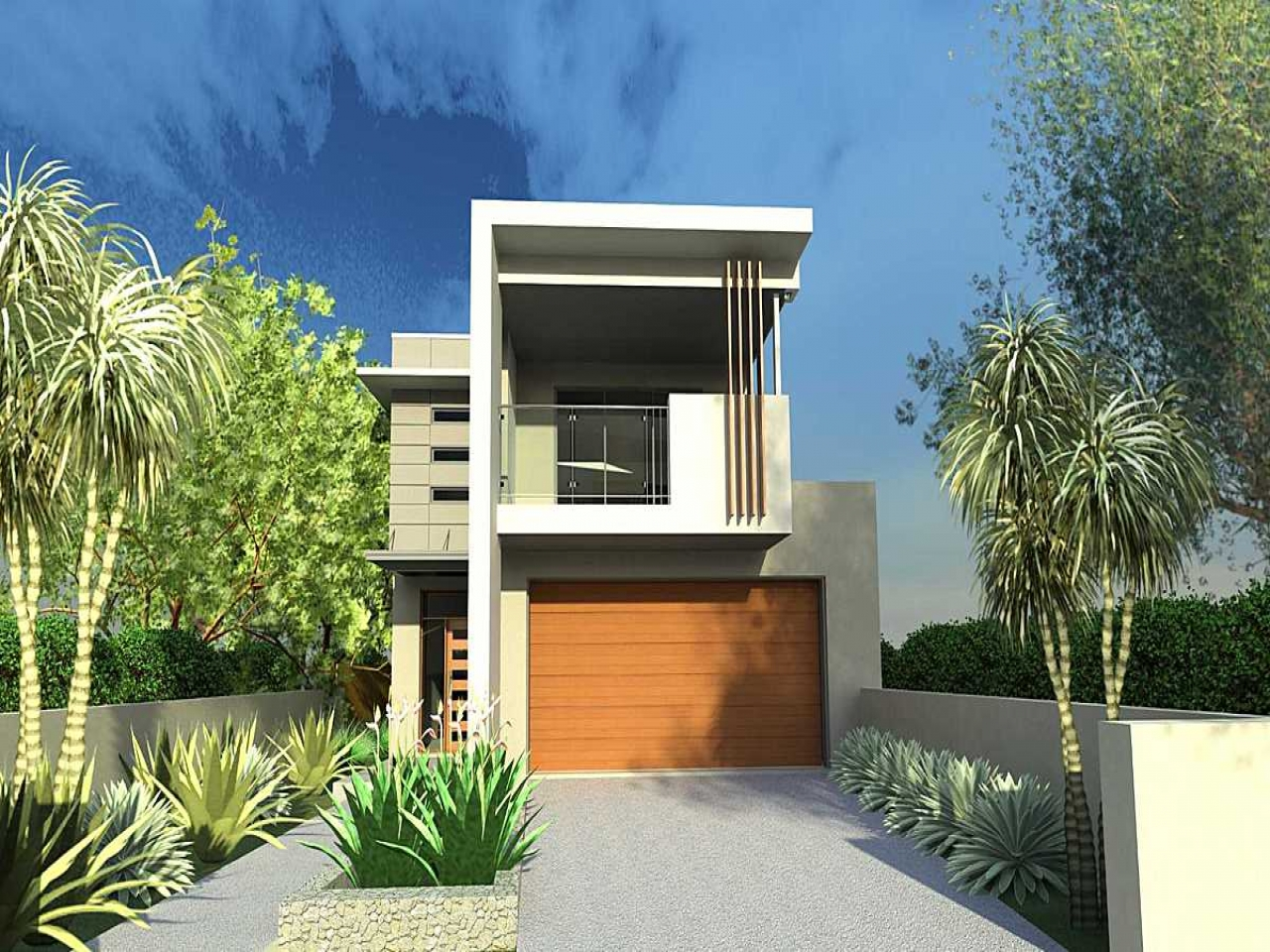 Narrow lot house plans with front garage lot narrow plan for Modern home plans for narrow lots