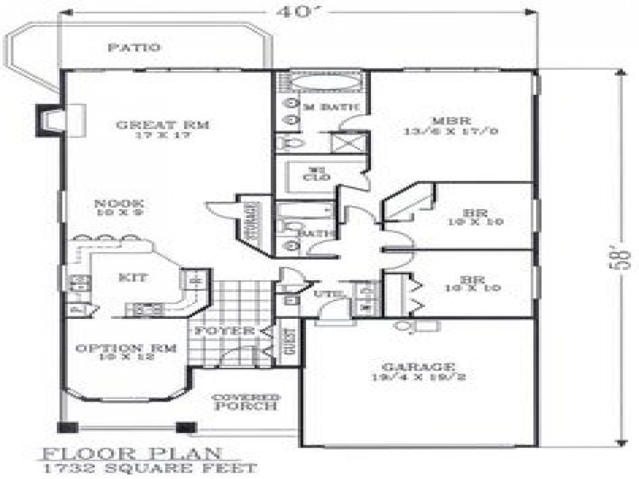 Craftsman open floor plans craftsman bungalow floor plans for Craftsman cottage floor plans