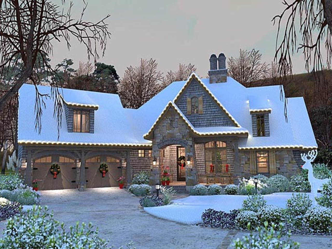 French country cottage house plan craftsman 75134 french for French cottage floor plans