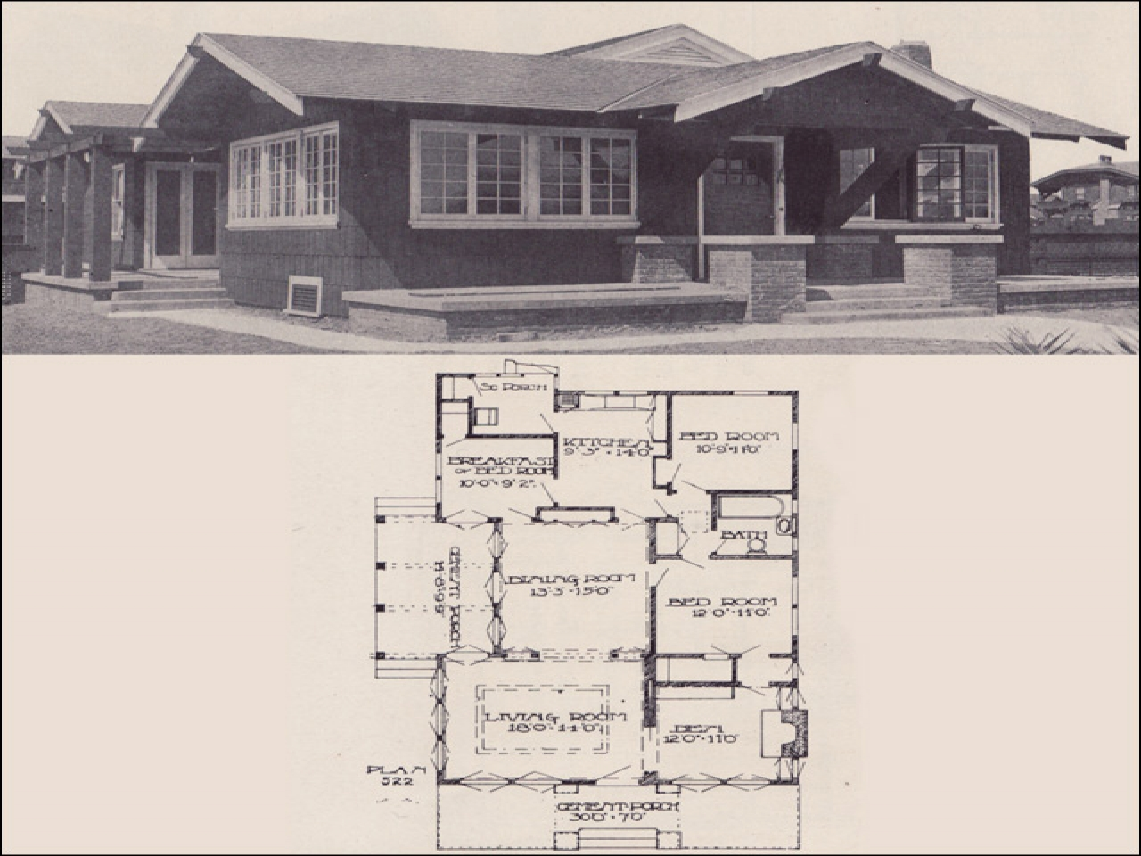 Small california bungalow house plans cottage house for California bungalow house plans
