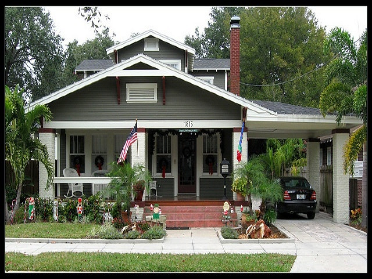 Bungalow style homes with porte cochere cape cod style for Cottage house plans with porte cochere