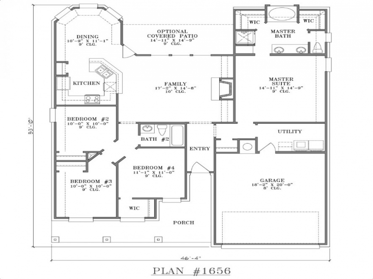 2 Bedroom House Simple Plan Small Two Bedroom House Floor ...