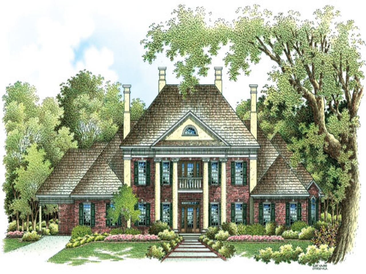 Traditional colonial house plans luxury colonial house for Classic colonial home plans