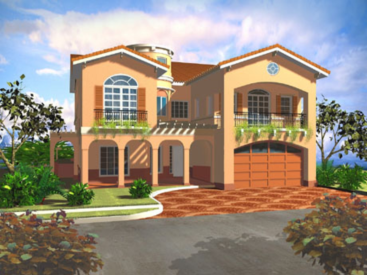 Mediterranean style house plans mediterranean villa floor for Mediterranean style mansion