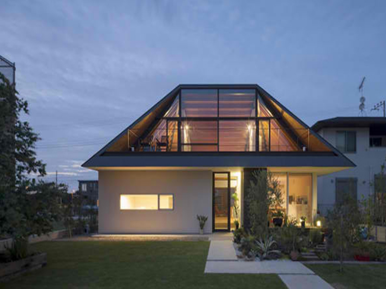 Roof Design Ideas: Flat Roof Modern House Designs Flat Roof Design Detail