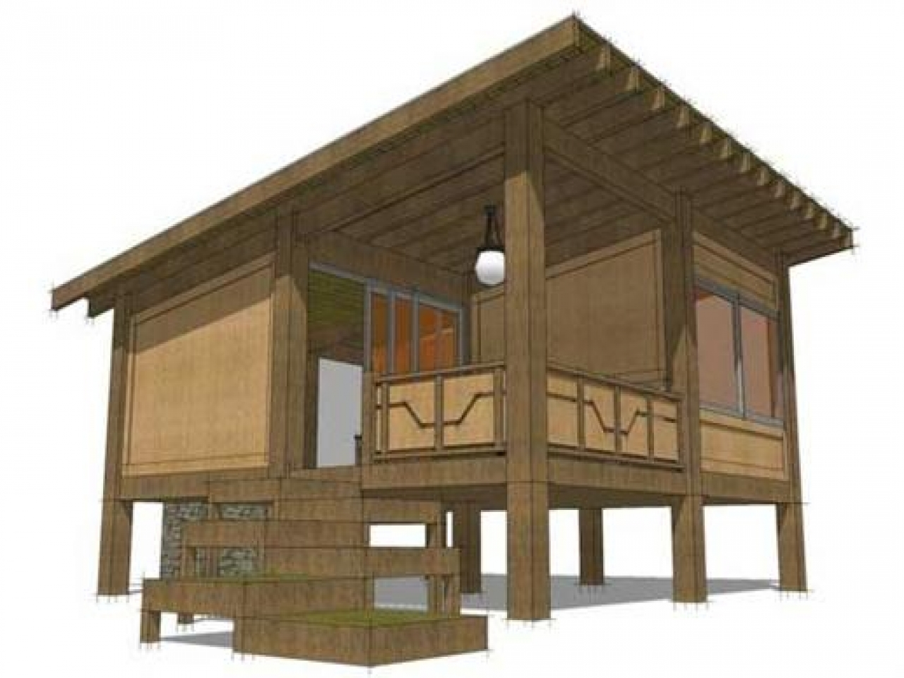 Shed roof cabin plans hunting cabin house plans hunting for Shed roof house plans