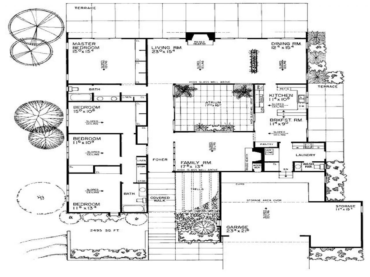 Eichler homes floor plans eichler homes in california for California ranch floor plans