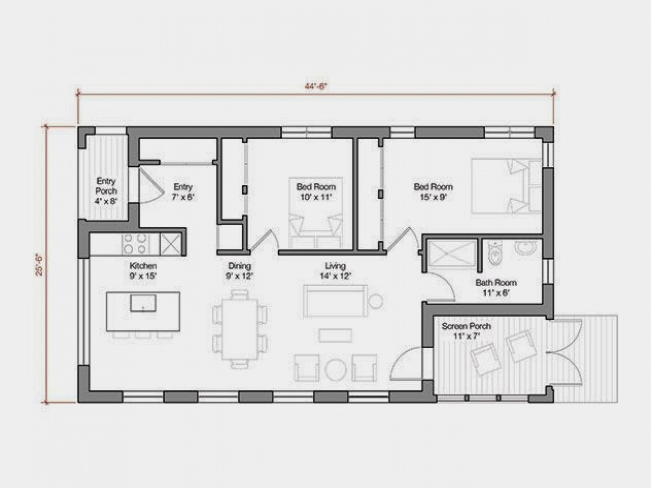 Modern house plans 1000 sq ft basement floor plans under for Home plans under 1000 square feet