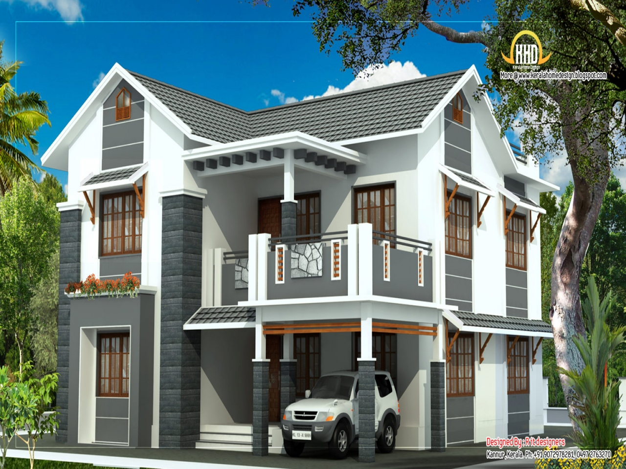 Simple Two-Storey House Design Modern 2 Story House Floor ...