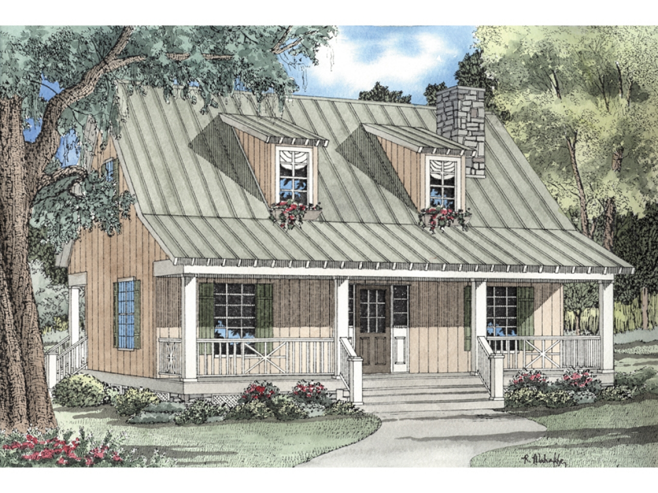 Country cabin house plans bungalow house plans with for Cozy cabin plans