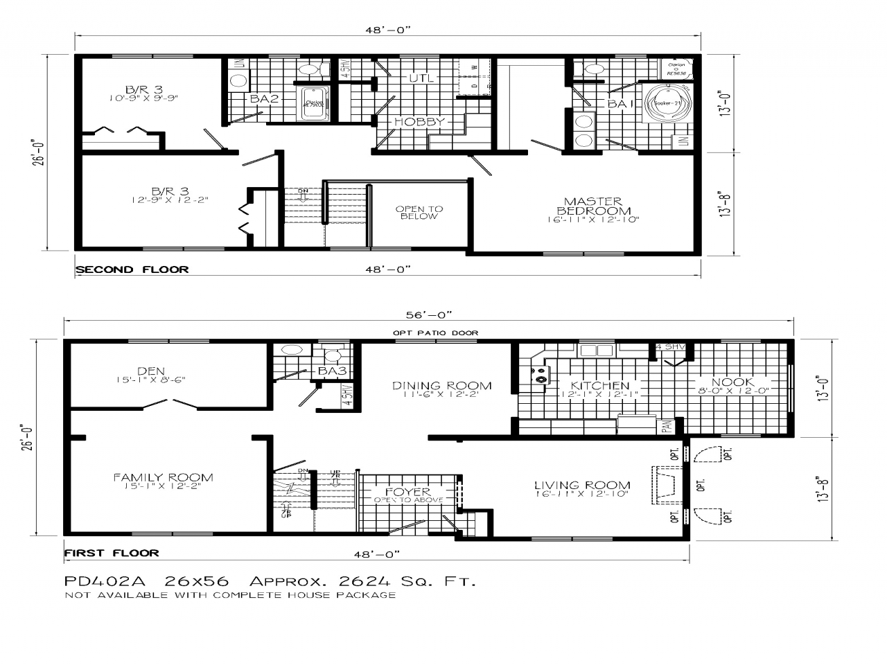 2 Floor House with Land 2 Story House Floor Plans, small ...