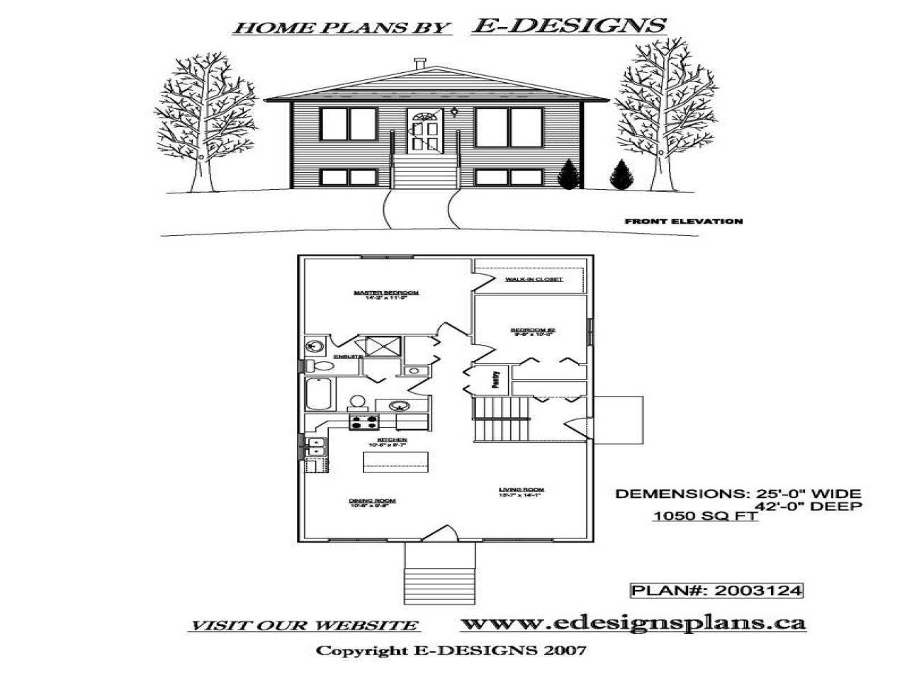 Split level home bi level home plans with garage bi level for Bi level home plans with garage