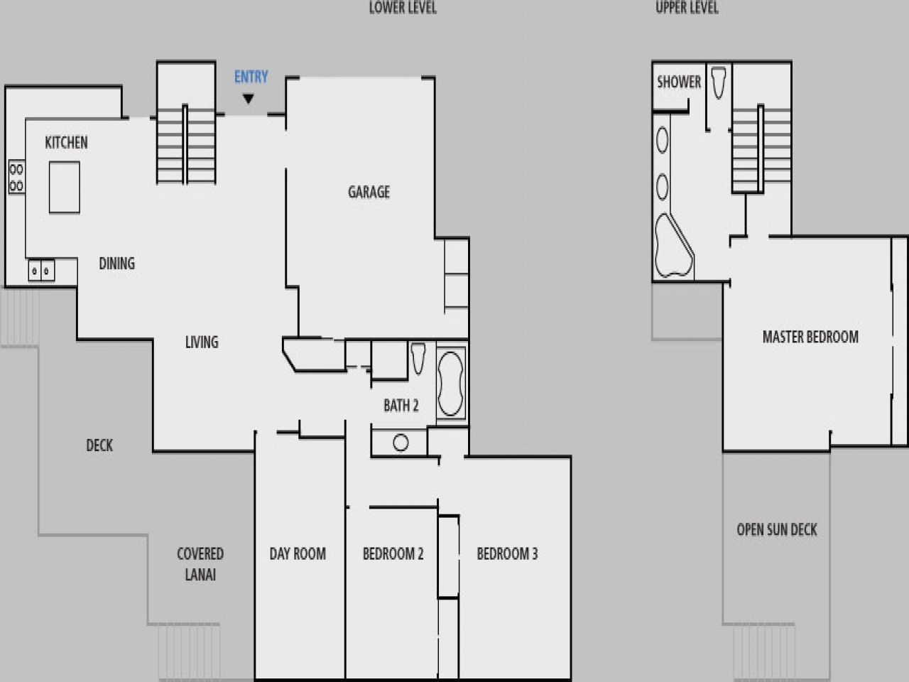 Hawaii beach house floor plans caribbean beach homes for Beach house floor plans