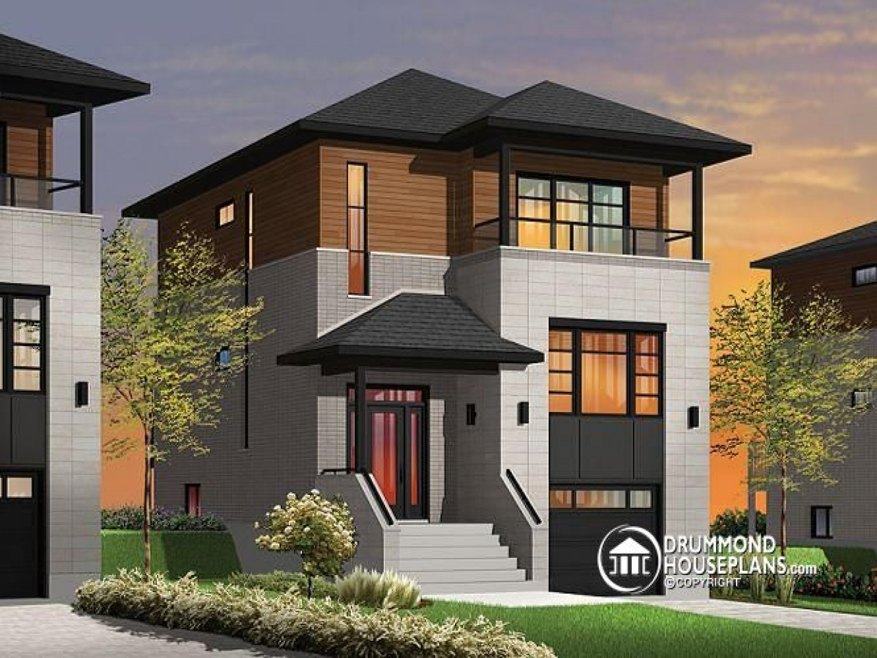 narrow lot homes with porches contemporary narrow lot house plans lrg 5faee60147477ff1 - Get Modern House Design For Small Lot  Images