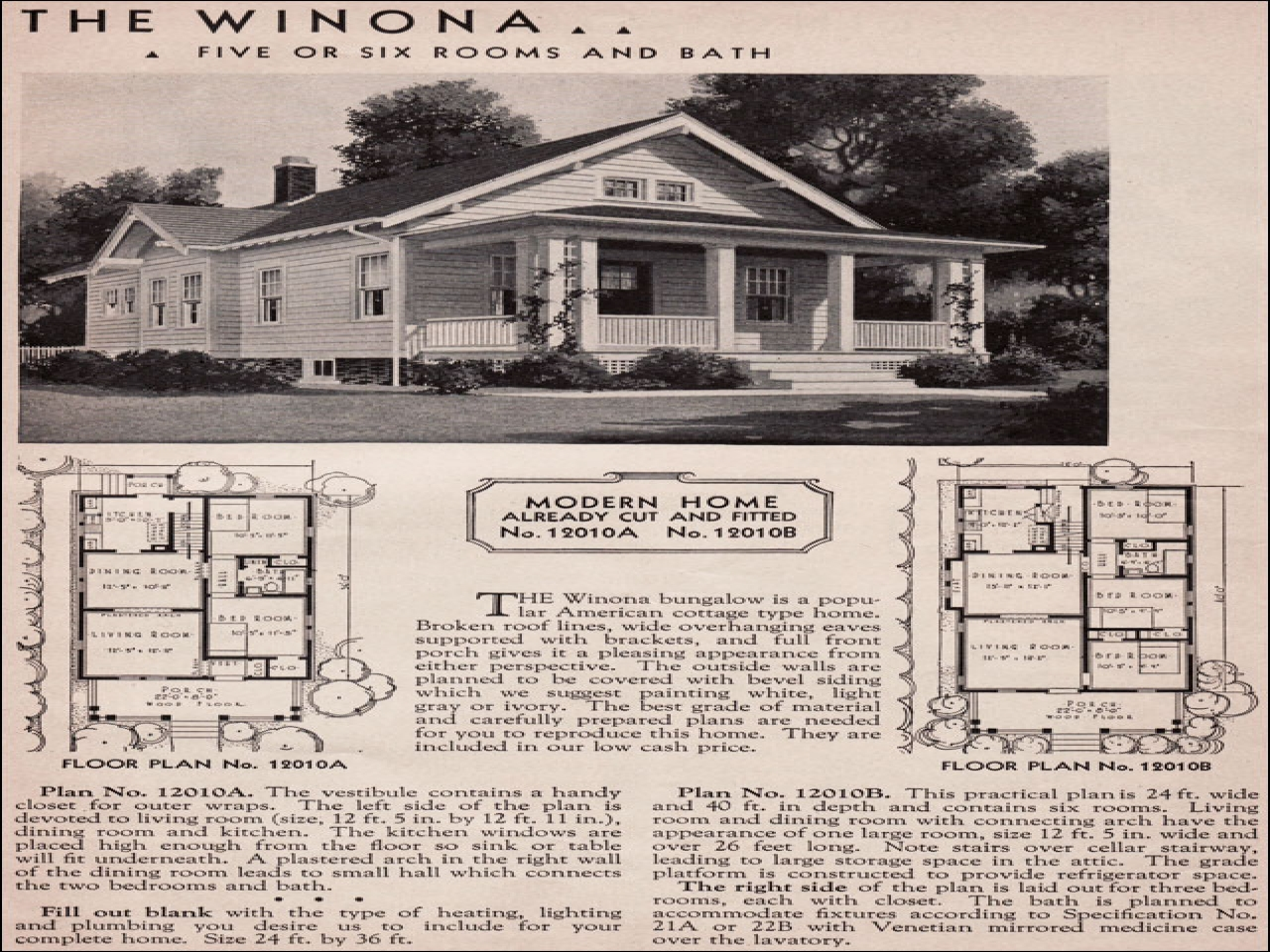 Sears Roebuck Bungalow House Plans Sears Catalog Houses