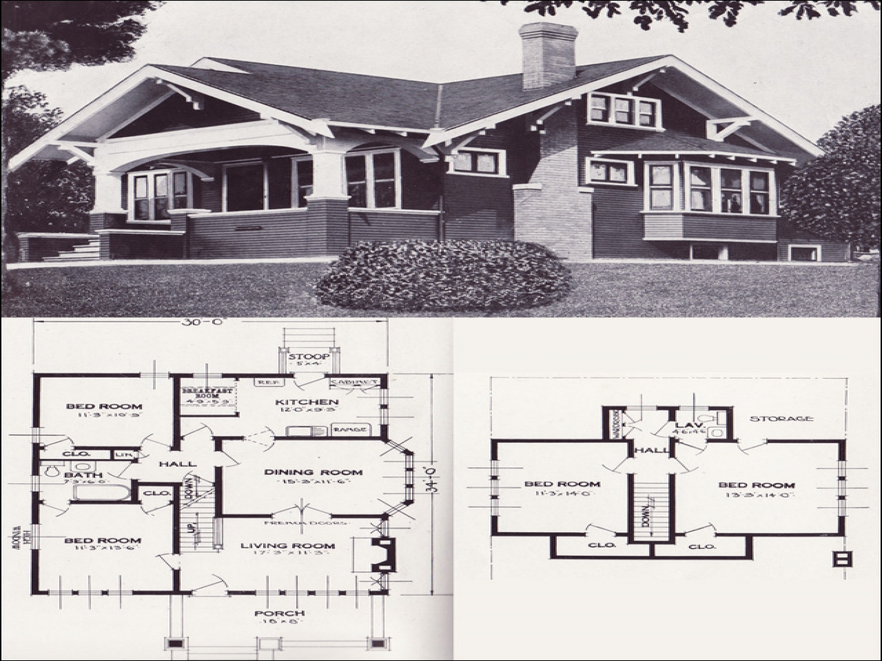 1920 craftsman bungalow interior 1920s craftsman bungalow for Craftsman house plans with interior photos