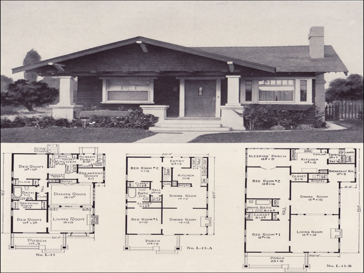 Modern Craftsman Bungalow House Plans