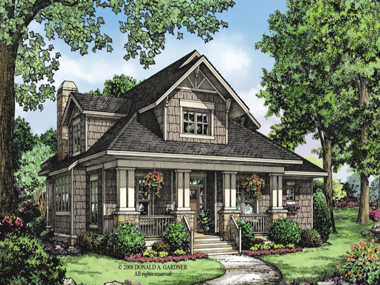 2 story bungalow house plans 2 story bungalow houses with for Two story car garage