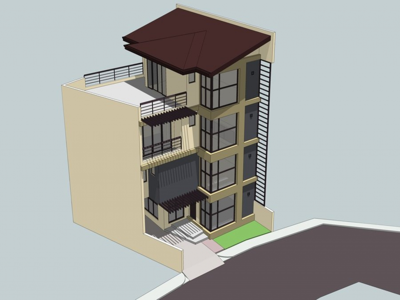 3 Storey House With Roof Deck Design 3 Storey Building