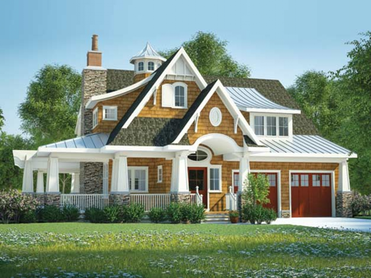 Award winning mediterranean house plans award winning home Custom cottage homes