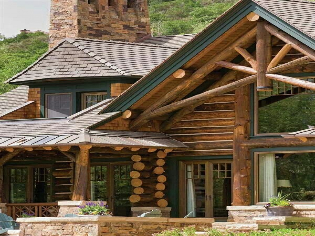 Cool log cabin homes ranch style log homes cool log homes for Log cabin ranch style homes