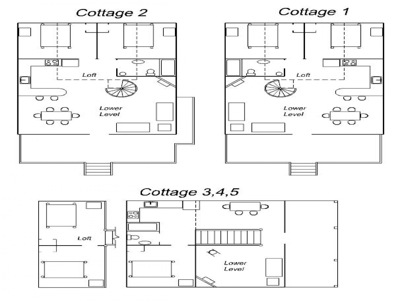 Cottage House Plans One Floor Resort Floor Plan Cottage