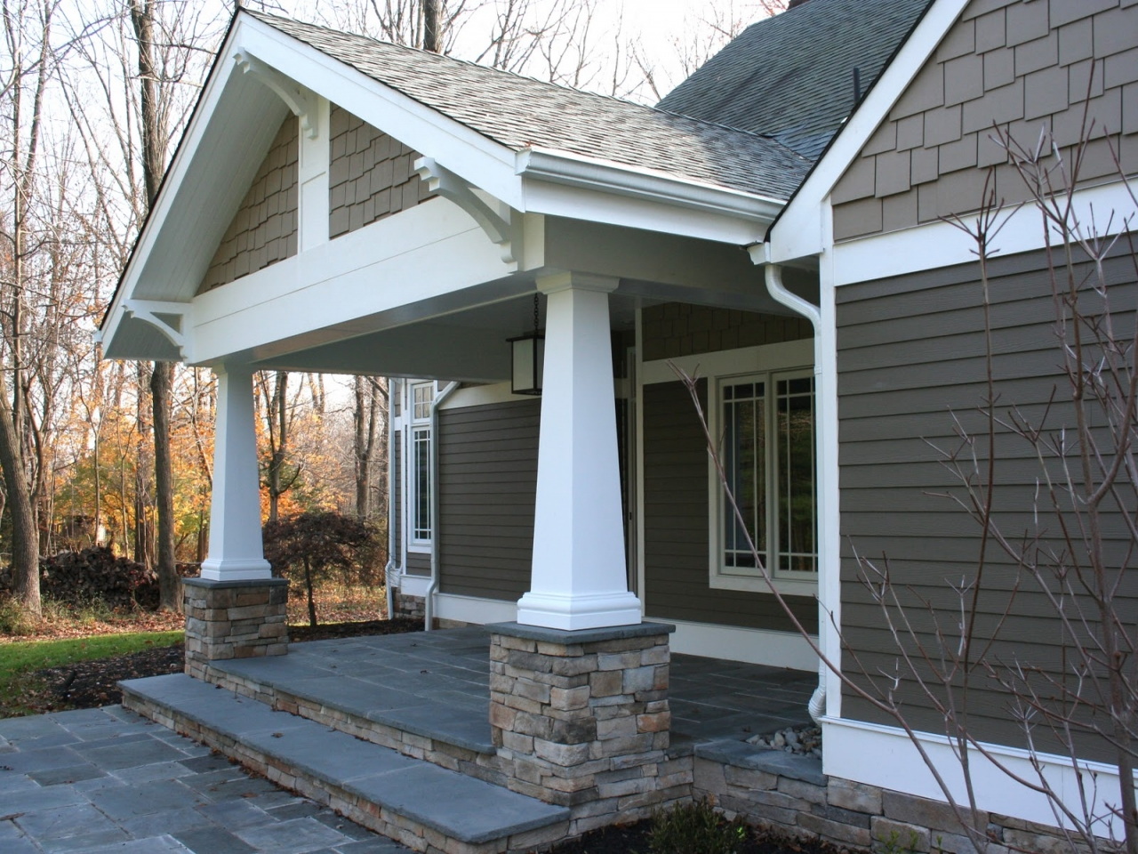 Dimensions Porch Columns Craftsman Style Craftsman Front