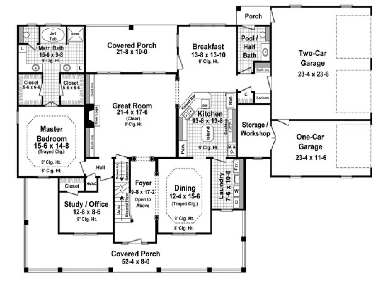 How Big Is 3000 Sq Ft 3000 Sq Ft One Floor House Plans