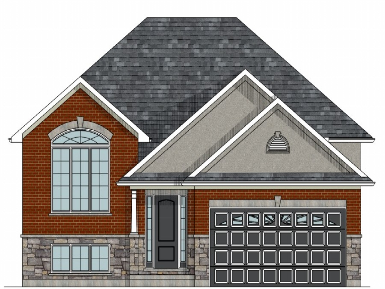 Raised bungalow canadian house plans raised bungalow house for Bungalow plans with garage