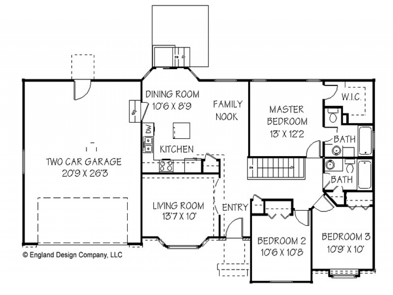 Simple ranch house plan texas ranch house plans 1 story for Texas ranch style home plans