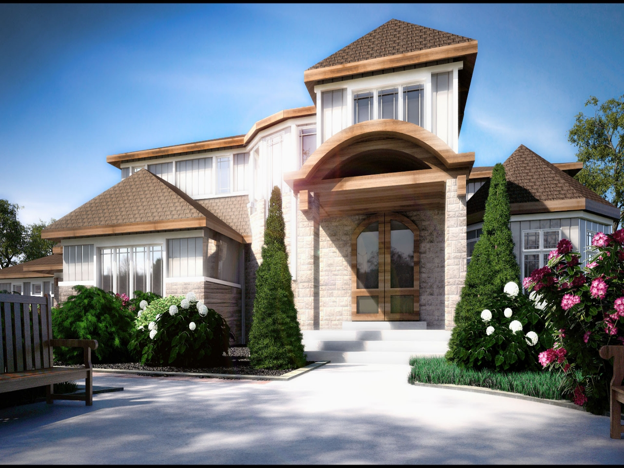 Single Floor House Plans With Open Design Single Family