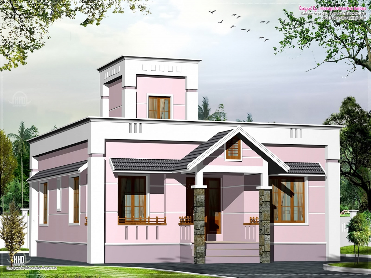 Small house floor plans and designs small villa house for Small villa house plans