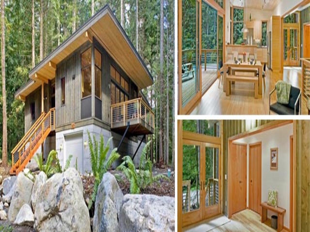 Affordable Modern Prefab Cabins Small Two Story Cottages Treesranch