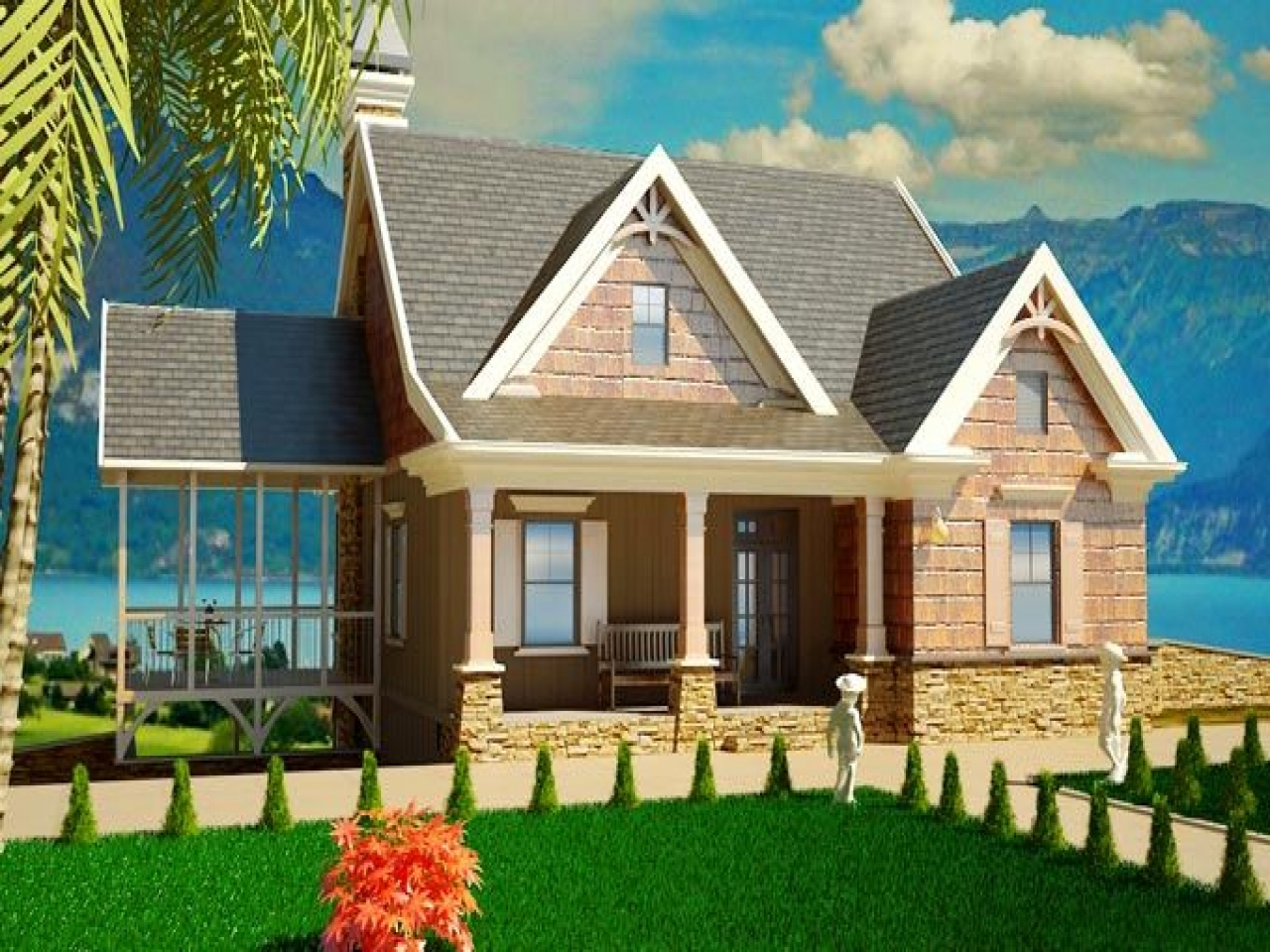 Country cottage house plans southern cottage style house for Southern cottage style house plans