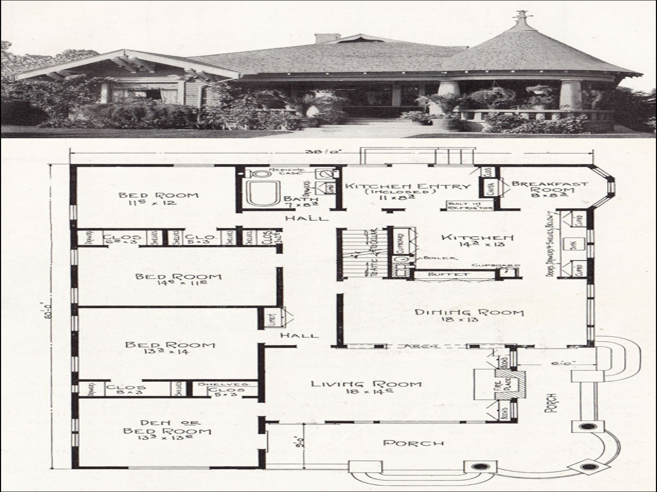 Craftsman bungalow house california bungalow house floor for California craftsman house plans