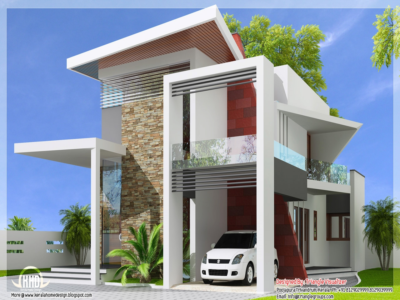 Modern Front Elevation View : Elevation views of houses modern house designs