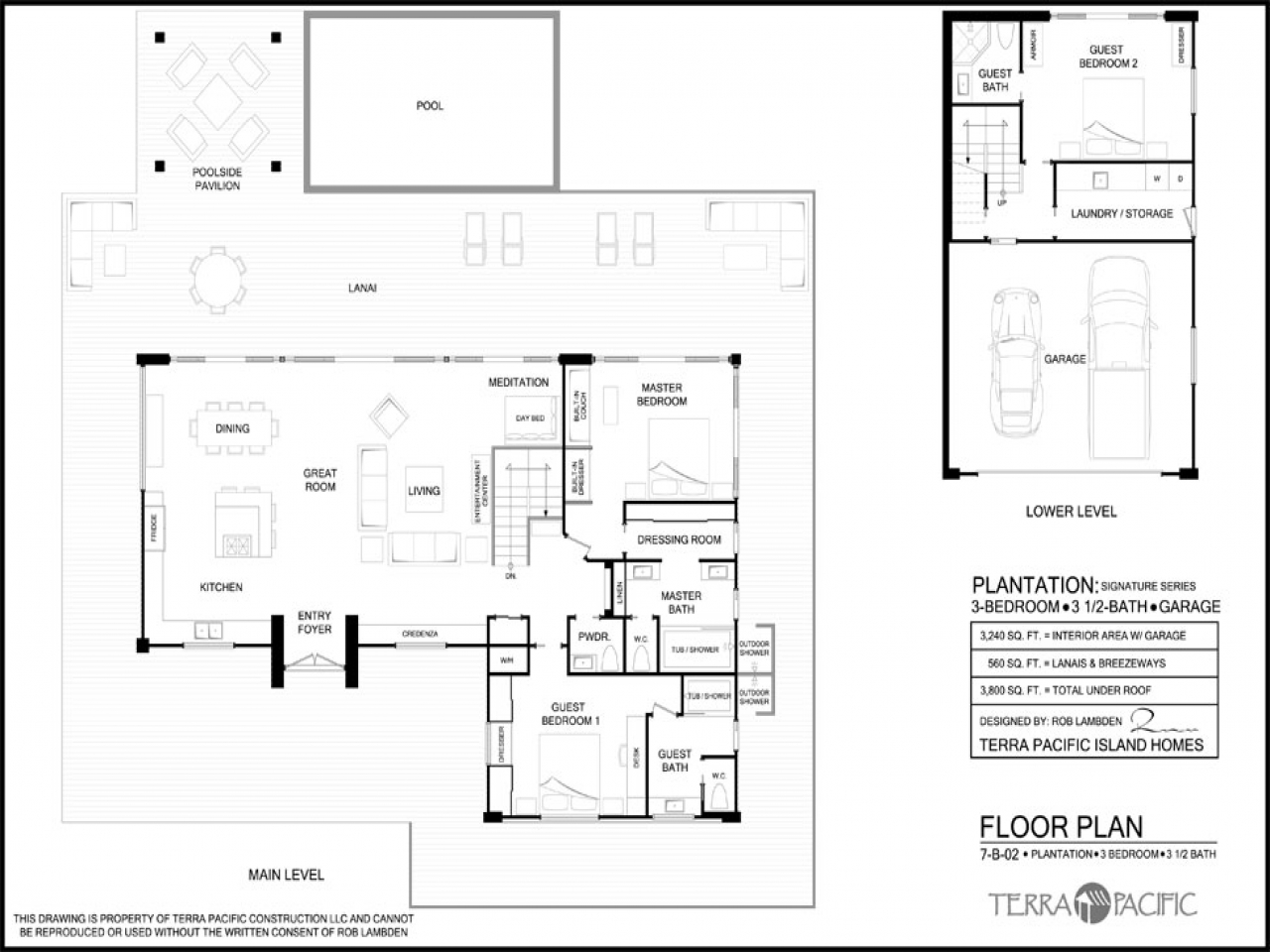 Hawaiian houses hawaiian plantation style home floor plans for Hawaiian style home plans